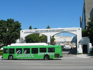 Culver City Bus at Sony Picture Studios in Culver City. [Photo Credit: LAtourist.com]
