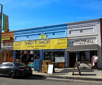Thrift Shops, Antique Stores and Vintage Clothing at Little Ethiopia on Fairfax Avenue in Los Angeles. [Photo Credit: LAtourist.com]