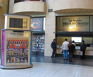 Los Angeles Visitor Information Center at Hollywood & Highland Center on Hollywood Boulevard. [Photo Credit: LAtourist.com]