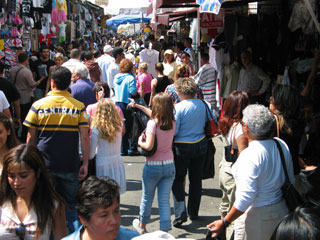Santee Alley in the Fashion District of Downtown Los Angeles. [Photo Credit: LAtourist.com]