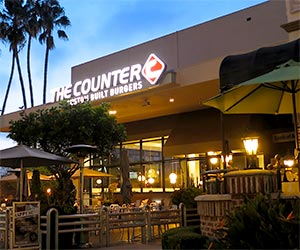The Counter at Museum Square, Museum Row on the Miracle Mile. The Counter makes signature gourmet burgers, or you can customize it just the way you want. There are choices for vegetarians and vegans too! [Photo Credit: LAtourist.com]