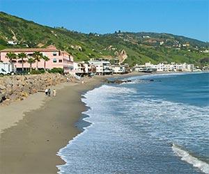 Malibu Coastline on the Pacific Ocean, near Los Angeles. [Photo Credit: LAtourist.com]