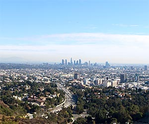 View of Hollywood and Downtown L.A. at Hollywood Bowl Overlook. [Photo Credit: LAtourist.com]