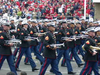 United States Marine Band at the Tournament of Roses Parade in Pasadena. [Photo Credit: LAtourist.com]