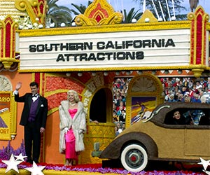 Southern California Tourist Attractions Rose Parade Float. [Photo Credit: LAtourist.com]