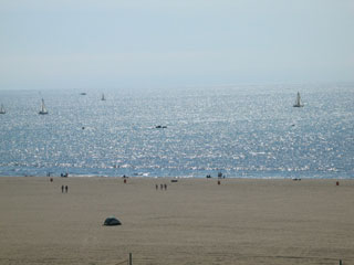 Los Angeles coastline, at Santa Monica Beach. [Photo Credit: LAtourist.com]