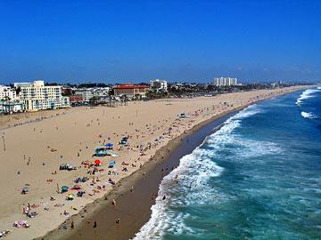 Santa Monica Beach near the Santa Monica Pier. [Photo Credit: LAtourist.com]