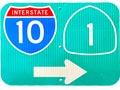 Sign leading to I-10 Freeway and Pacific Coast Highway in Santa Monica, California. [Photo Credit: LAtourist.com]