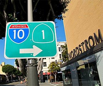 I-10 Freeway and PCH Sign in Santa Monica. [Photo Credit: LAtourist.com]