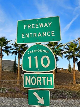 110 Freeway Onramp in Downtown Los Angeles. [Photo Credit: LAtourist.com]