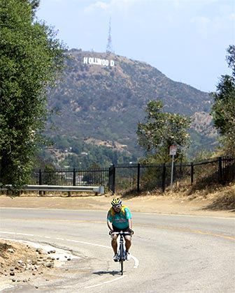 Bicycle on Mulholland Drive in Los Angeles. [Photo Credit: LAtourist.com]
