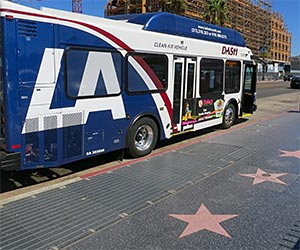 DASH Bus on Hollywood Boulevard. [Photo Credit: LAtourist.com]