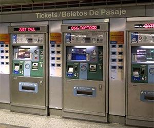 Ticket Vending Machine at a Metro Train Station. [Photo Credit: LAtourist.com]