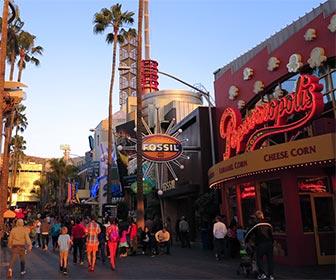 Stores and Restaurants at CityWalk Hollywood near Universal Studios. [Photo Credit: LAtourist.com]