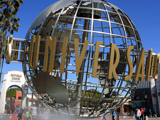 Globe near the entrance at Universal Studios, Hollywood. [Photo Credit: LAtourist.com]
